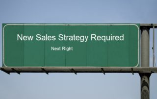 Road sign showing sales strategy fails