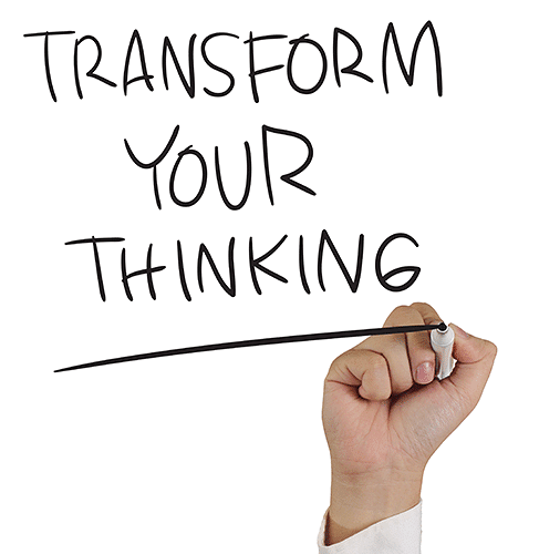 Transform thinking sign to Contemporary Sales Organisation