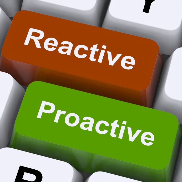 two key board buttons saying marketing proactiveness