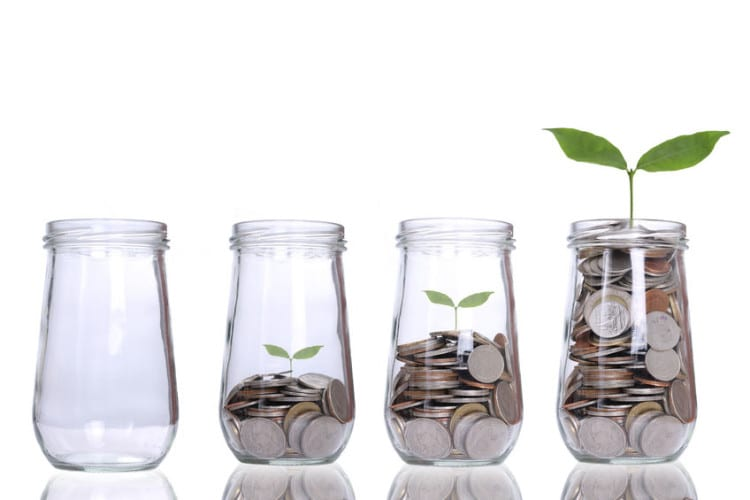 jars of coins showing managing profitable growth