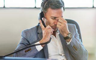 businessman with a sales problem