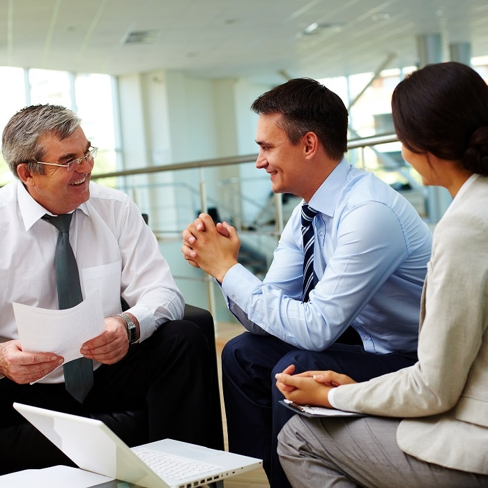 CEO meeting with sales manager
