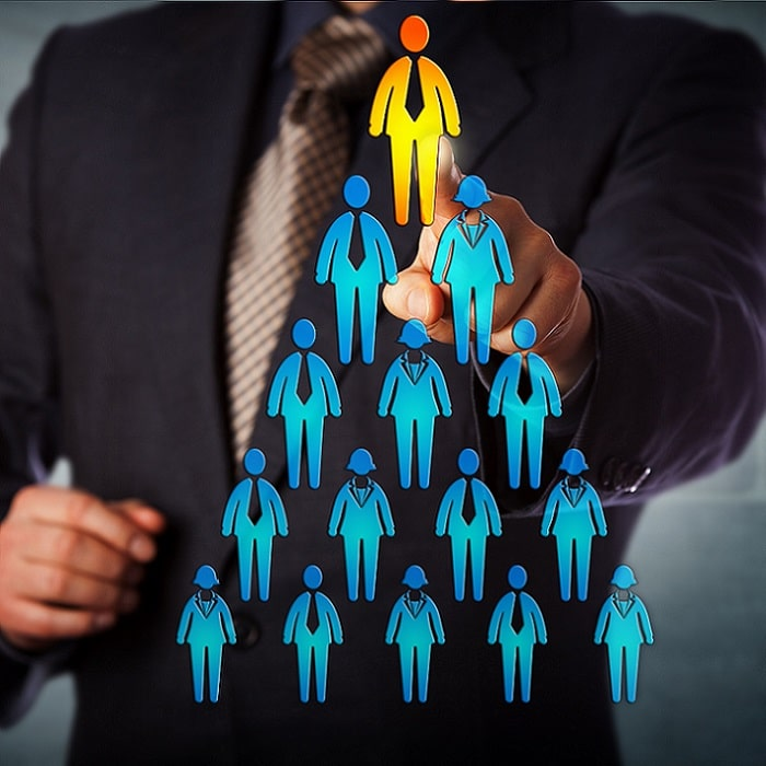 Recruiter Selecting Man a top Sales Person