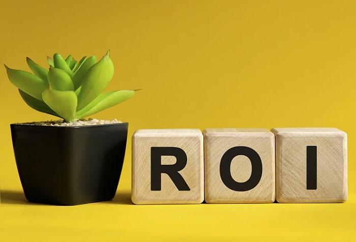 business concept of marketing ROI